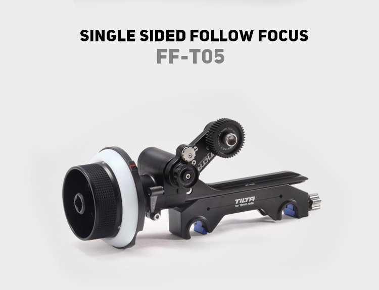 TILTA FF-T05 Single Sided Cinema Follow Focus Safety box 15/19mm rod Adapter For Zeiss/Fujifilm/Arri/Angenieux Lens