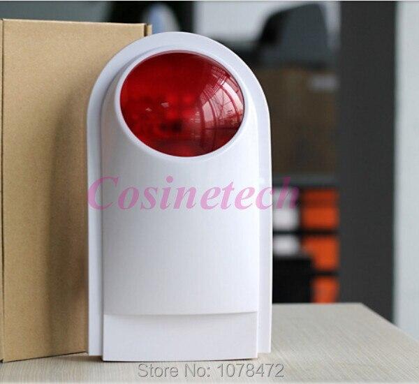 ФОТО Waterproof wireless outdoor strobe siren for home alarm systems,KR-J008 standalone siren KERUI siren horn Securi alarm