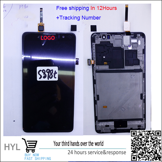 Original  Touch screen digitizer+LCD display with frame For lenovo s898 s898t fast shipping tracking number бп atx 350 вт exegate atx xp350