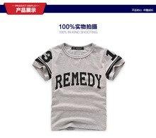 New Kids t shirt Letter Print Boy Girl tshirt Funny Shirt For Children Top Tee Black White Grey for 2-7T