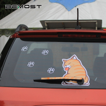 BEMOST Auto Accessories Car Styling Hot Sales Cartoon Funny Cat Moving Tail Animal Stickers Rear Window Wiper Decals Sticker