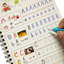 1 pcs Children alphabet groove copybook 26 English letters Character Exercise Kindergarten baby pre-school to write the text(China)