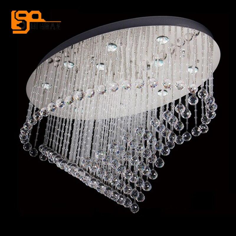 Neue Oval Design Decke Kristall Kronleuchter LED Deckenleuchte Moderne Wohnzimmer LeuchtenChina