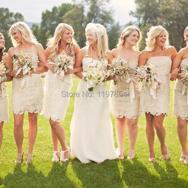 Cream Bridesmaid Dress - Wedding Dress Ideas