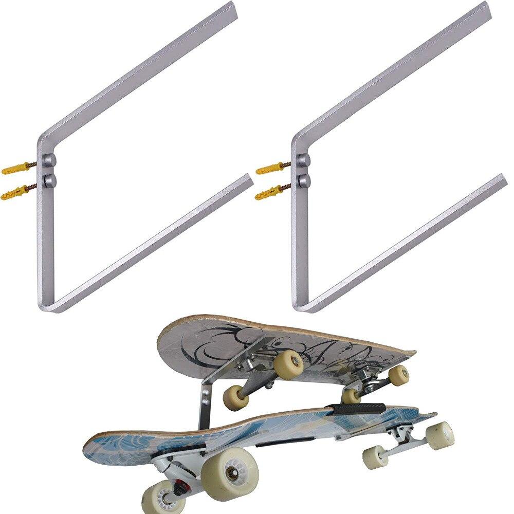 Two - Layers Skateboard Deck Wall Mount Hanger Longboard Wall Rack Holder Storage