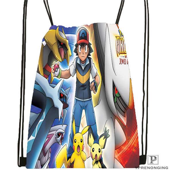 Custom reshiram pokemon 1 Drawstring Backpack Bag for Man Woman Cute Daypack Kids Satchel Black Back
