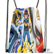 Custom reshiram-pokemon-@1 Drawstring Backpack Bag for Man Woman Cute Daypack Kids Satchel (Black Back) 31x40cm#20180611-03-141