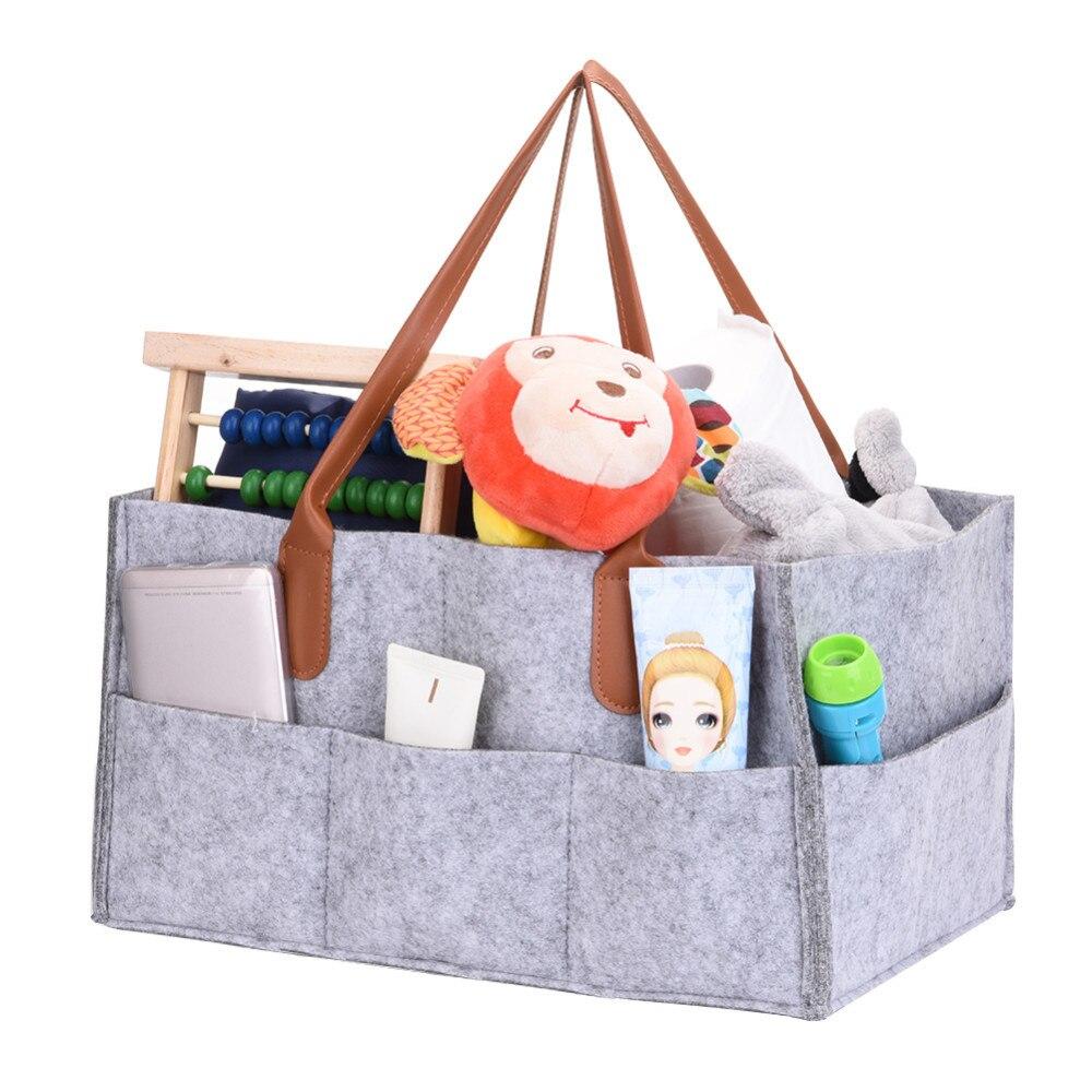 Hot Foldable Felt Storage Bag Diaper Caddy Organizing