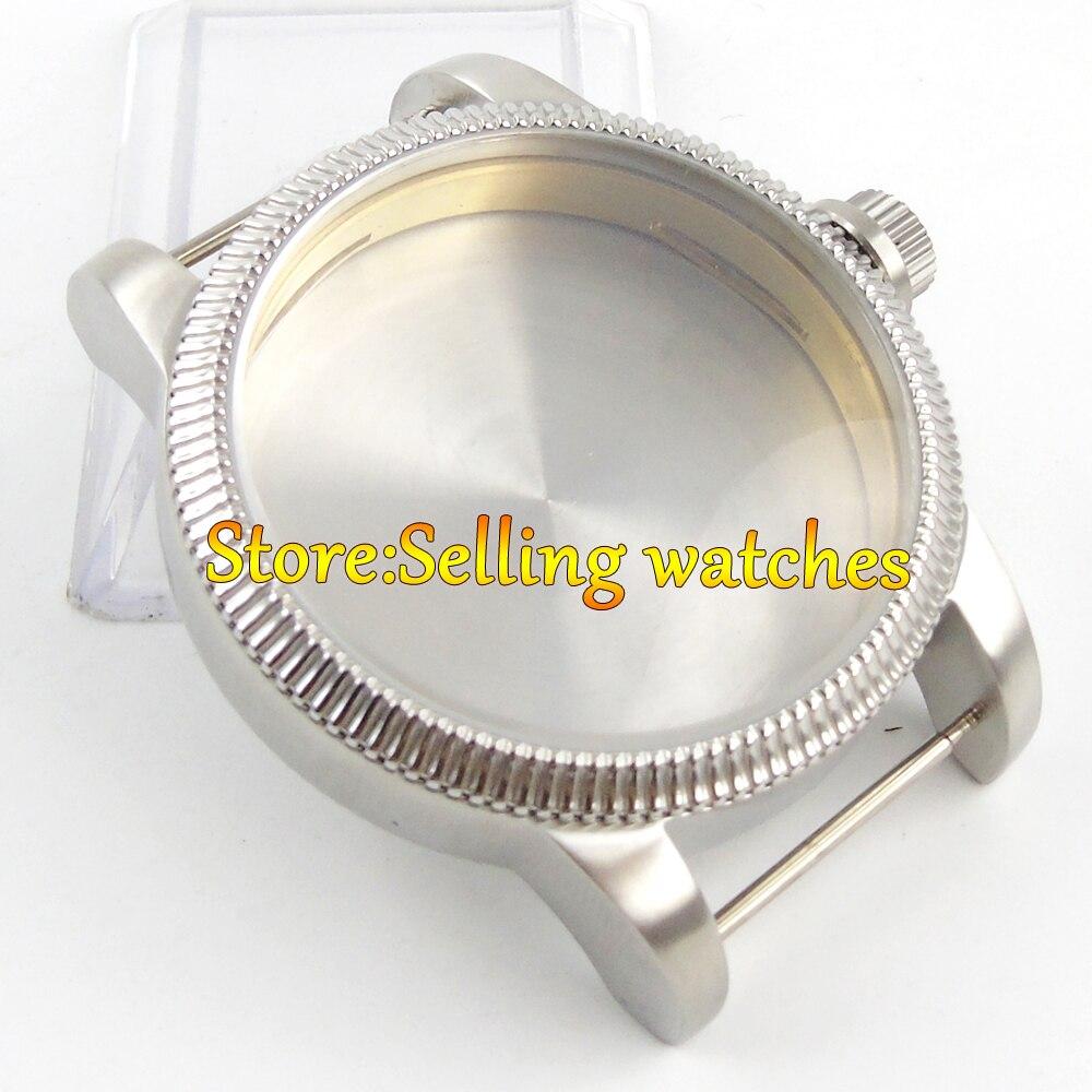где купить 46mm stainless steel corgeut black watch case for eta 6497 6498 movement по лучшей цене