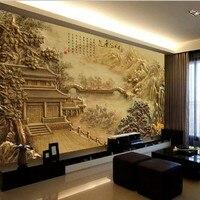 Custom Photo Wallpaper 3d China Retro Modern Wallpaper TV Scenery Sized Photo Murals Seamless Wallpaper For