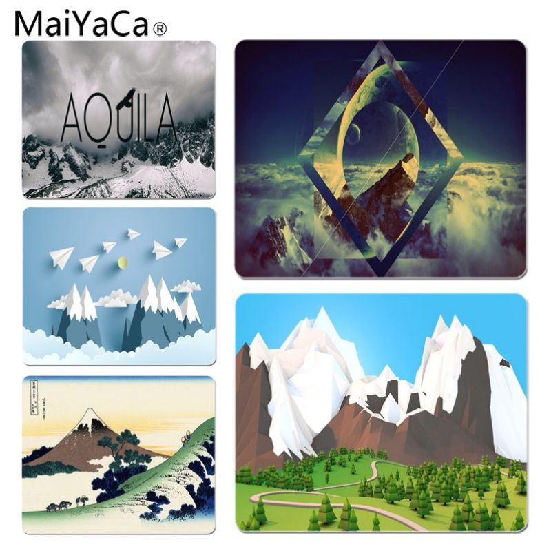 MaiYaCa Mountain Large Lockedge Mouse pad PC Computer mat Size for 25x29x0.2cm Gaming Mousepads