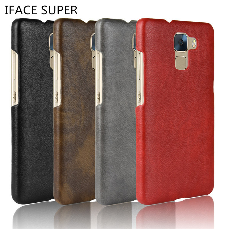 Honor 7 Case HONOR7 5.2 inch Case PU Leather Hard Plastic Back Cover Phone Case For Huawei Honor 7 PLK-AL10 PLK-L01 Phone Shell