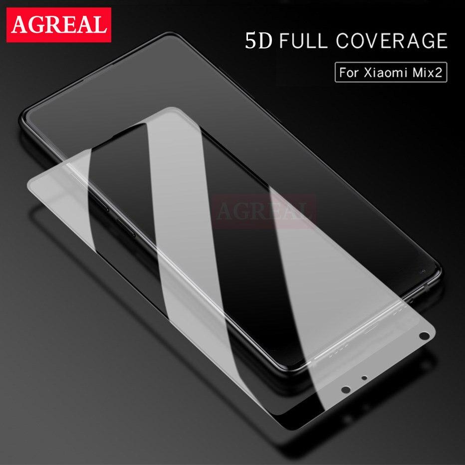 Galleria fotografica For xiaomi mi mix 2 5D glass tempered glass screen protector 9h for xiaomi mi mix2 Clear Screen phone glass film mix 2 3D glass