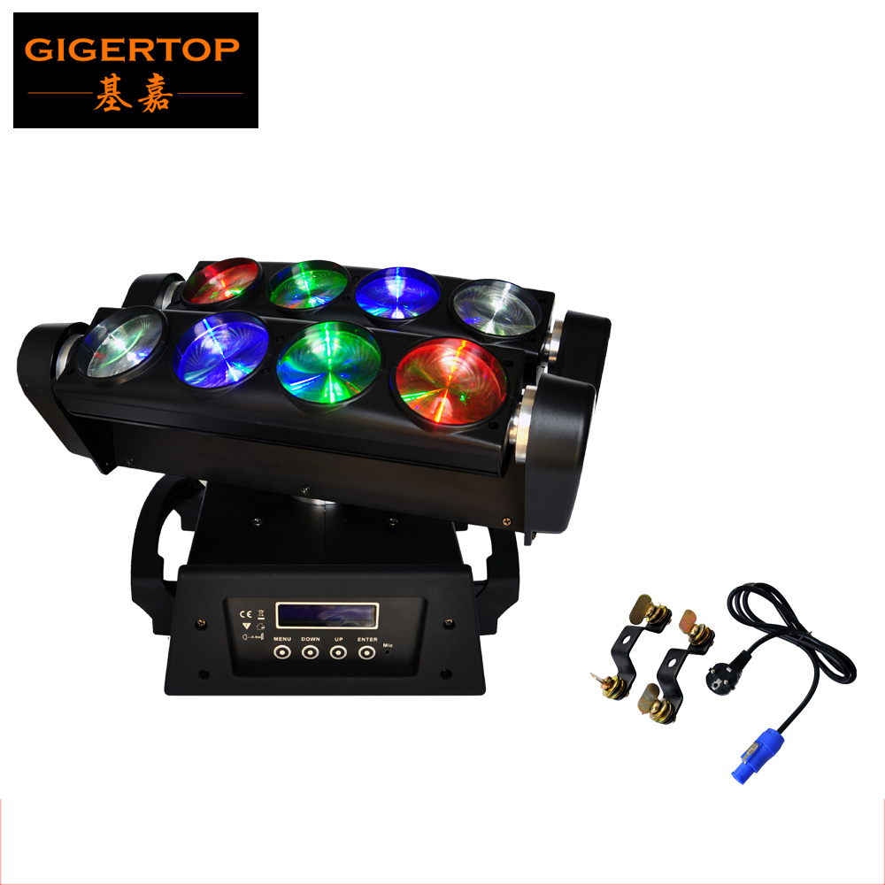 Freeshipping LED Moving Head Beam 8 eyes Light RGBW 4in1 Color Mixing USA CREE LED Scanner Beam Spider Effect DMX 13/46CHS freeshipping 2xlot 16 head led moving head spider light endless rotation 16x25 high power rgbw 4in1 beam full color lcd display
