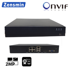 Zensmin H.265 4CH 8CH 48V POE NVR 802.3at/af P2P ONVIF Network Video Recorder FHD 3.0MP 2.0MP for POE IP Camera CCTV Security