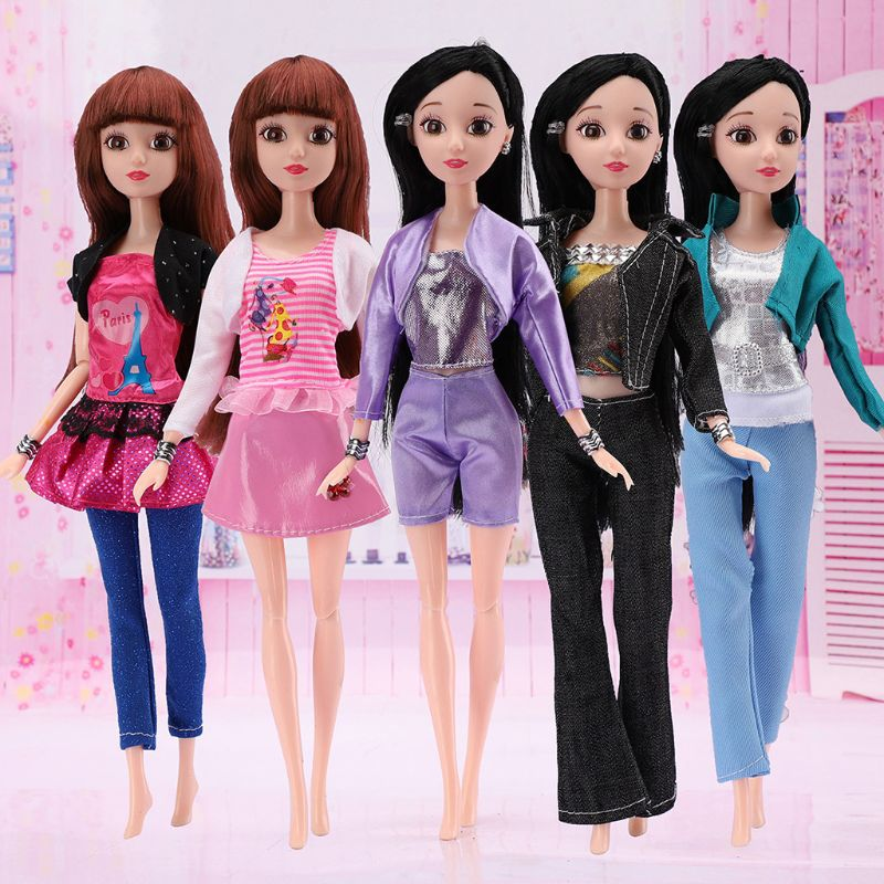 Beautiful Handmade Fashion Clothes Dress For  Doll Cute Lovely DecorHV