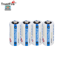 4pcs/lot TrustFire 1400mAh CR123A 3V Lithium CR 123A Disposable Battery Fit for Flashlight Baby Toy Camera Batteries soshine cr123a 3v disposable lithium batteries 2 pcs