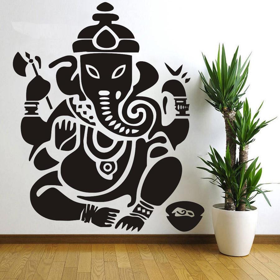 popular decorative wall stickers india buy cheap decorative wall wall decal ganesh buddhism india indian namaste buddha god om yoga buddha mandala ganapati bedroom wall