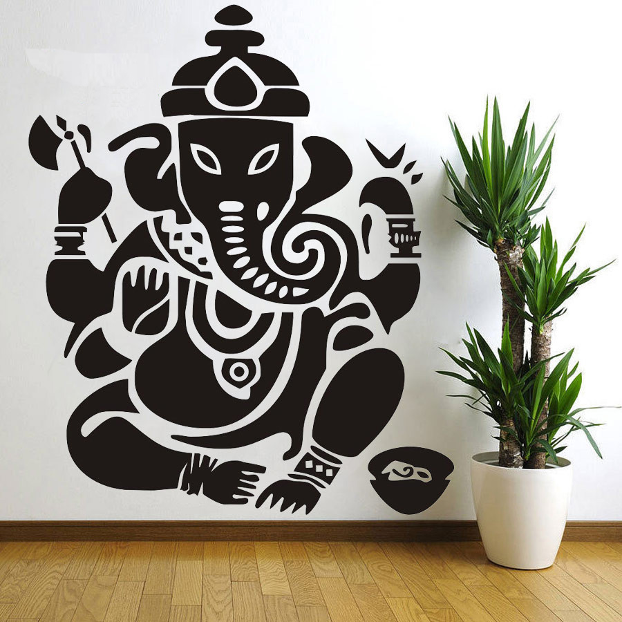 Aliexpresscom Buy Wall decal Ganesh Buddhism India Indian