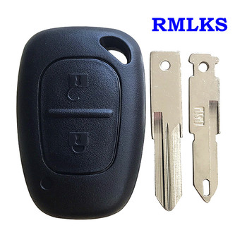 For Renault Traffic Master Vivaro Movano Kangoo 2 Buttons Remote Key Case Fob Replacement Car Key Shell NE73/VAC102 Blade image
