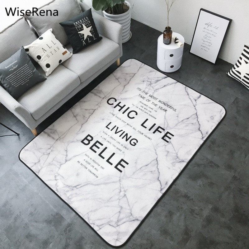 Ins Europe du nord bref tapis pour salon marbre motif doux corail polaire grand salon chambre tapis tapis alfombra tapete