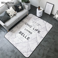 Ins Northern Europe Brief Carpet for Living Room Marble Pattern Soft Coral Fleece Large Parlor Bedroom Rug Mat alfombra tapete