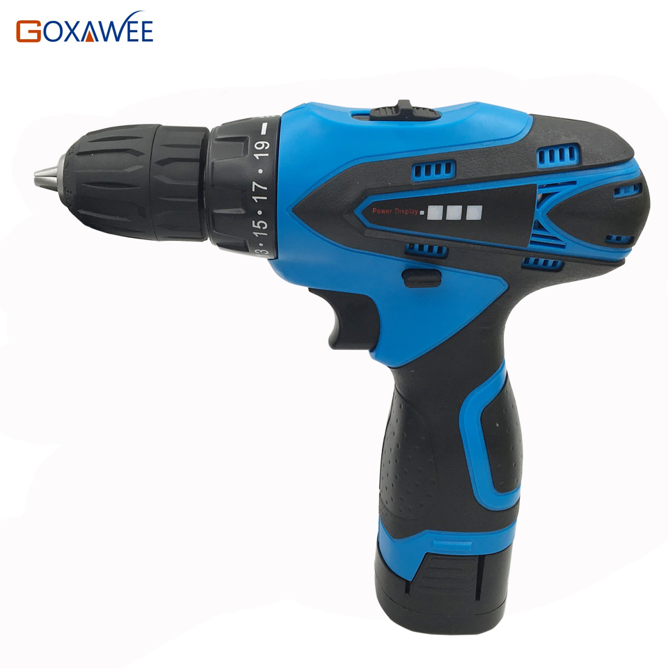GOXAWEE 16.8V Mini Electric Screwdriver Drill Rechargeable Lithium Battery Parafusadeira Power Tools Cordless Screwdriver Bits mini small cordless electric rechargeable screwdriver 4 8v 180rpm 20pcs screwdriver bits 3pcs drill for home use diy tools
