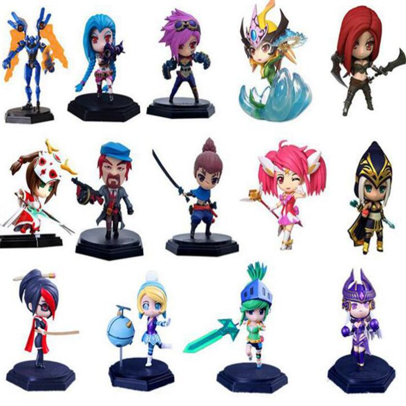 15cm Games Model toys VI Yasuo League of L Competitive Games controller PVC Action Figure Car Decoration kids toys Gift