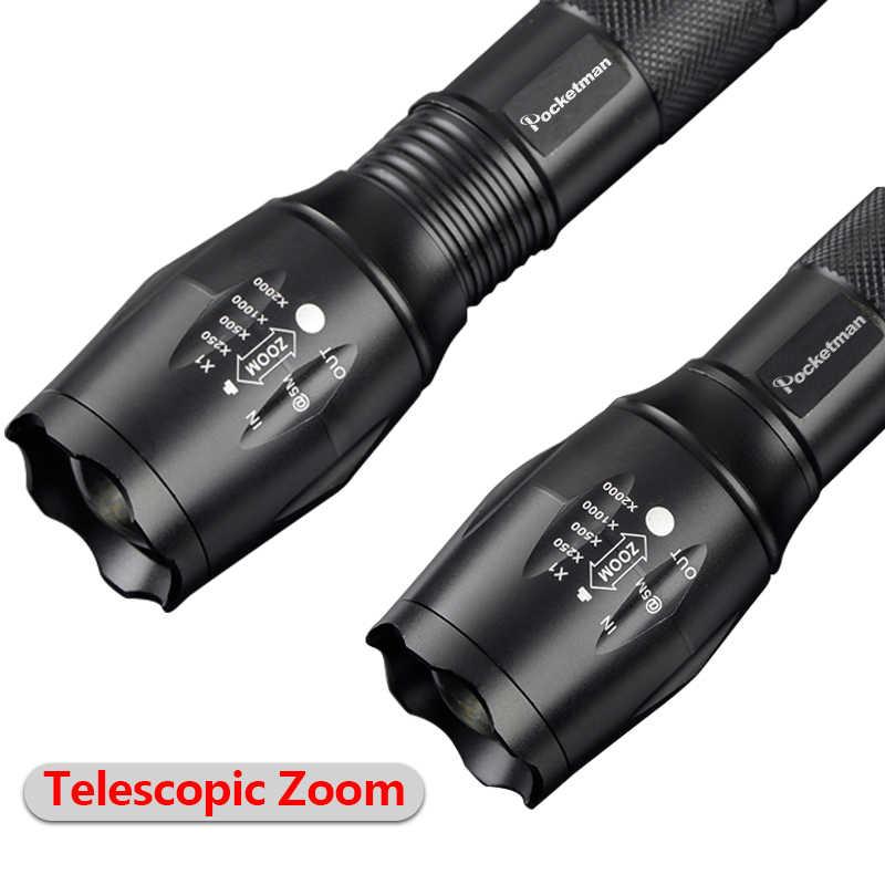V6/L2/T6 LED פנס 10000 LM Led לפיד זום LED פנס עמיד למים לפיד אור עבור AAA 18650 עבור קמפינג חזק