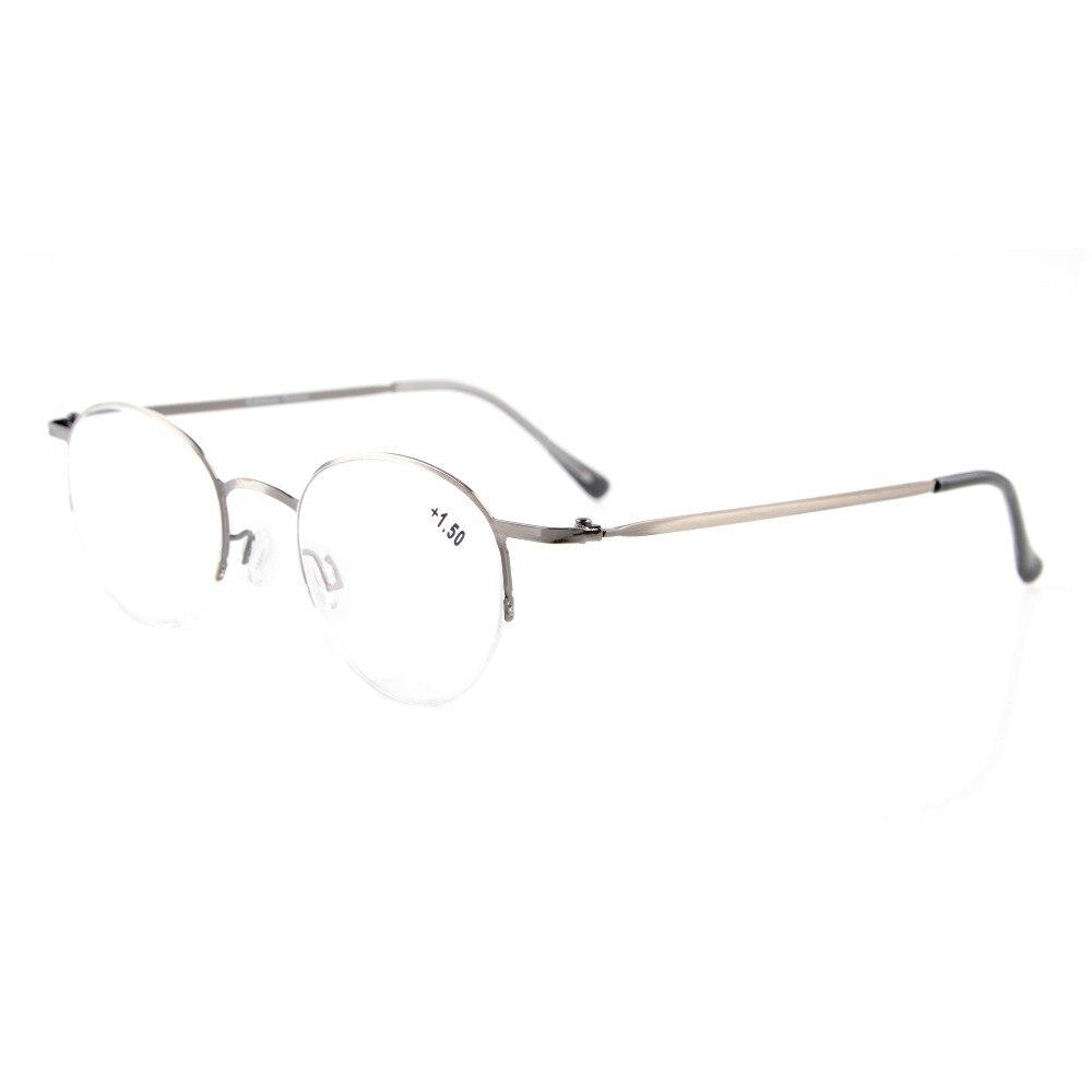 Eyekepper M/étal Lunettes de lecture demi-monture Anti-UV 0.75 Gunmetal