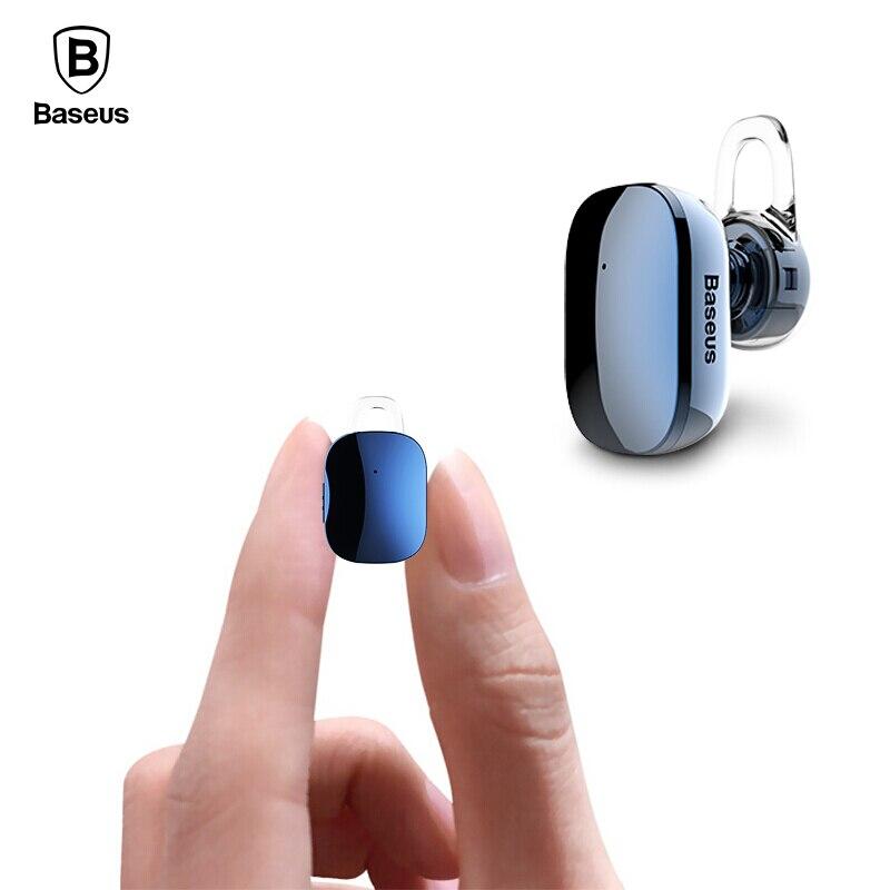 Baseus Mini Bluetooth Kopfhörer freisprech Wireless Bluetooth Headset Kopfhörer mit Mic 4,1 Ohrbügel Ohrhörer Ohrhörer Für Telefon