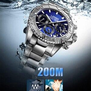 Image 3 - LOREO Orologi da Uomo Top Brand di Lusso Zaffiro Orologio Meccanico Automatico Degli Uomini In acciaio inox 200 Impermeabile Orologio Quadrante Blu