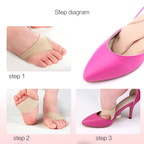 Fabric Gel Metatarsal Ball Of Foot Insoles Pads Cushions Forefoot Pain Support Front Foot Pad Feet Foot Care Tool Orthopedic Pad Karachi