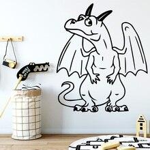 NEW cartoon drgon Waterproof Wall Stickers Home Decor Decorations childrens Room Decal muursticker