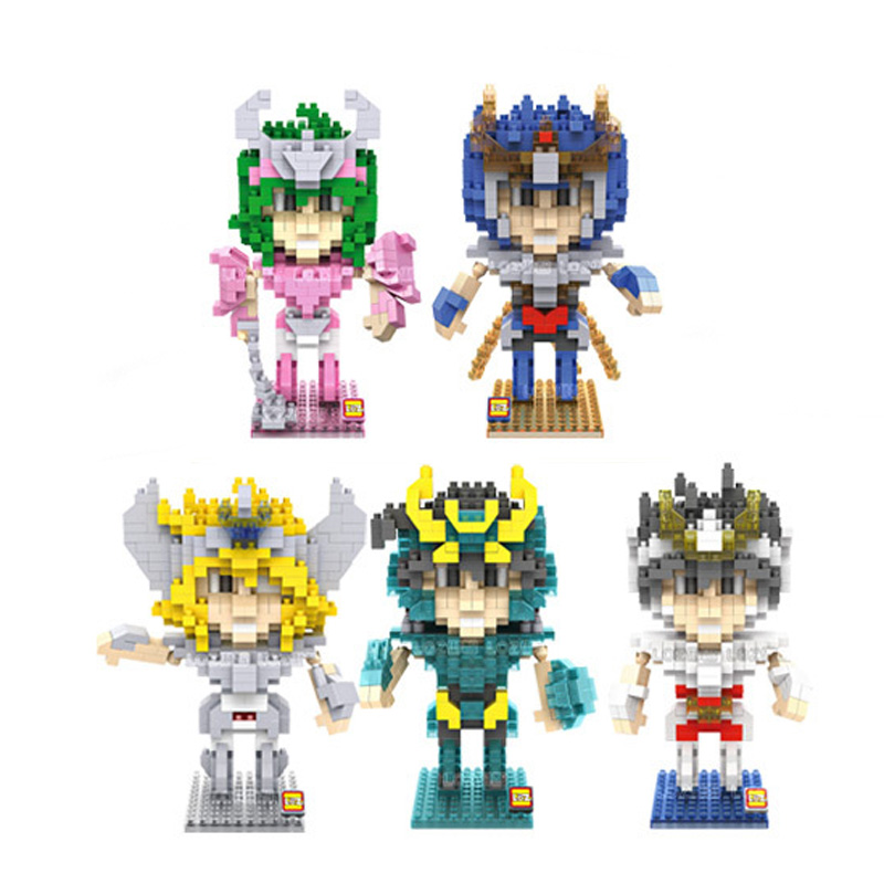 цены LOZ Diamond Blocks Saint Seiya  Building Blocks 3D Action Figure Kids Toys brinquedos juguetes menino Jouet enfant
