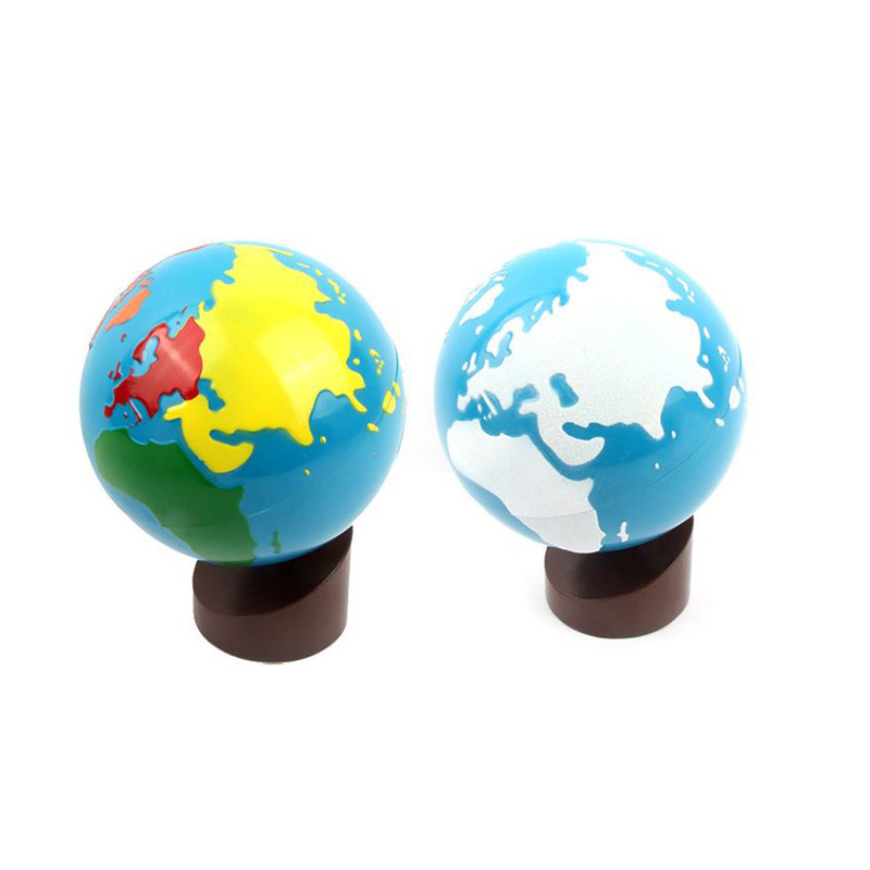 Montessori Globe World Parts of the Continents Learning & Education Early Childhood Education Kids toys visual education