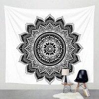 Мандала настенный гобелен черный белый бергамот висячая декоративная ткань фоновая ткань Йога комната занавеска для гостиной простыни