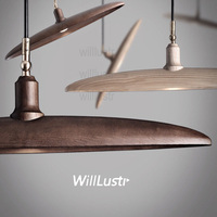 Willlustr Wood Pendant Light Wooden Suspension Lamp Minimalist Design Nordic Lighting Hanging Lamp Dinning Room Restaurant