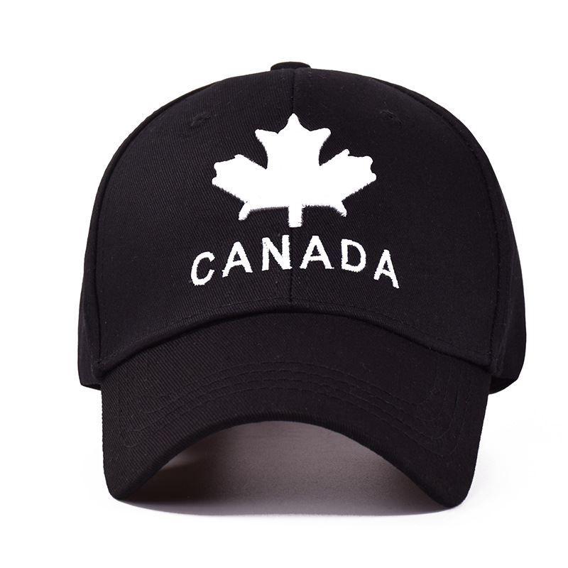 99fdbed73 Embroidery CANADA Dad Hat Maple Leaf Cotton Baseball Cap Women Men Trucker  Caps Summer Unisex Snapback Hip Hop Hats Adjustable