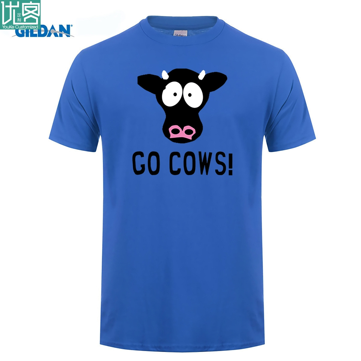 Funny South of the Park T-Shirt GO COWS image