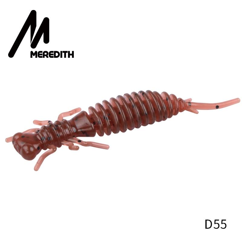 Мягкие приманки MEREDITH Larva, 50 мм, 62 мм, 85 мм, искусственные приманки, силиконовая приманка для ловли червя, приманка для ловли щуки, гольян, плавающая приманка, пластиковые приманки - Цвет: D55
