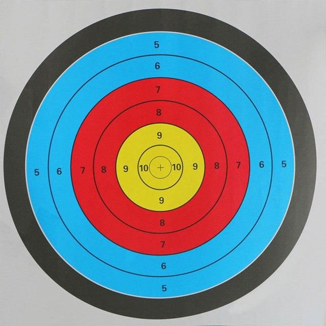 מטרות חץ וקשת מדבקה ירי יעד נייר ציד חץ אביזרי מלא טבעת קשת חץ יעד מד המטרה 60*60 CM
