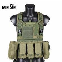 MEGE Desgaste MOLLE Wargame Paintball Policía Body Armor Chaleco Táctico Militar Chaleco De Caza CS Equipos Productos al Aire Libre Negro, bronceado