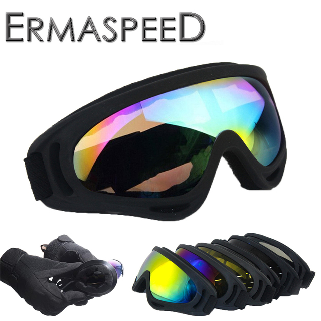 03487c79c62 Motorcycle Goggles Bulletproof Army Polarized Military Sunglasses Motocross  Hunting Shooting Motorbike Scooter Biker Glasses