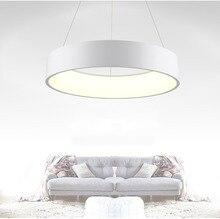 Anneau LED Pendentif Lampe Home Decor Acrylique Pendentif Lumière Suspendus Luminaire LED Anneau de Lumière pour Salle À Manger