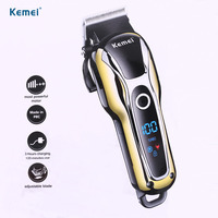 110v 240v Turbocharged Rechargeable Clipper Professional Hair Trimmer Men Electric Shaver Cutter Hair Cutting Machine Haircut
