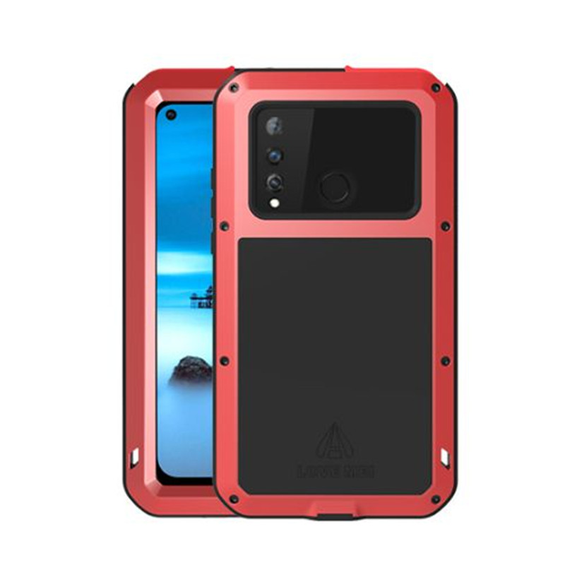 6.4'' Original LOVE MEI Powerful Case for Samsung Galaxy A8s Case Heavy Duty Shockproof TPU Hard Metal Cover & Toughened Glass