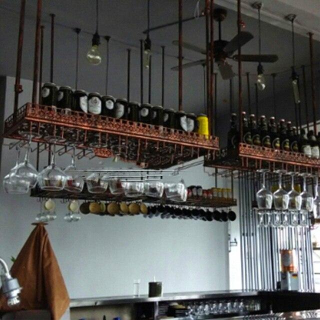 Bar Plank Aan Muur.80 35 Cm Mode Bar Rode Wijnglas Glas Hanger Houder Opknoping Rack