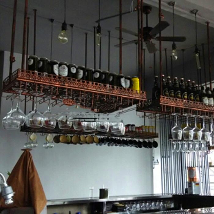 Good Support Verre A Pied Pour Bar #13: 80 * 35 CM Mode Bar Vin Rouge Titulaire Goblet Verre Hanger étagère Pour  Rack Mur