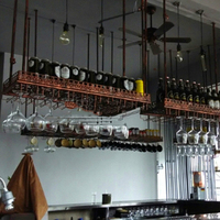 80*35CM Fashion Bar Red Wine Goblet Glass Hanger Holder Hanging Rack Shelf wall wine rack cup holder